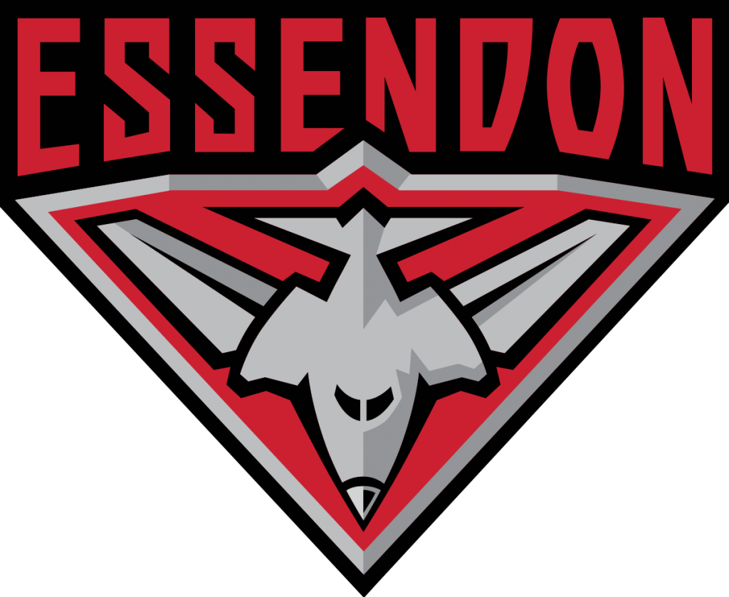 Essendon Football Club Crest black, red and grey