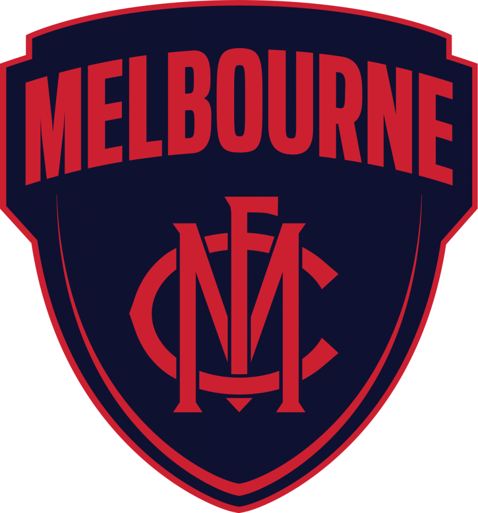 Melbourne Football Club Crest Navy and Red