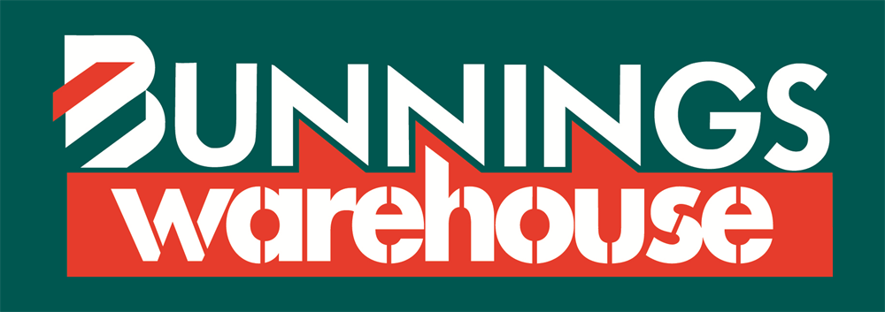 Bunnings Warehouse Logo Forrest Green, White and Red