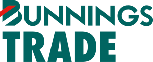 Bunnings Trade Logo Forest Green and Red