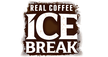 Ice Break Logo Brown and White