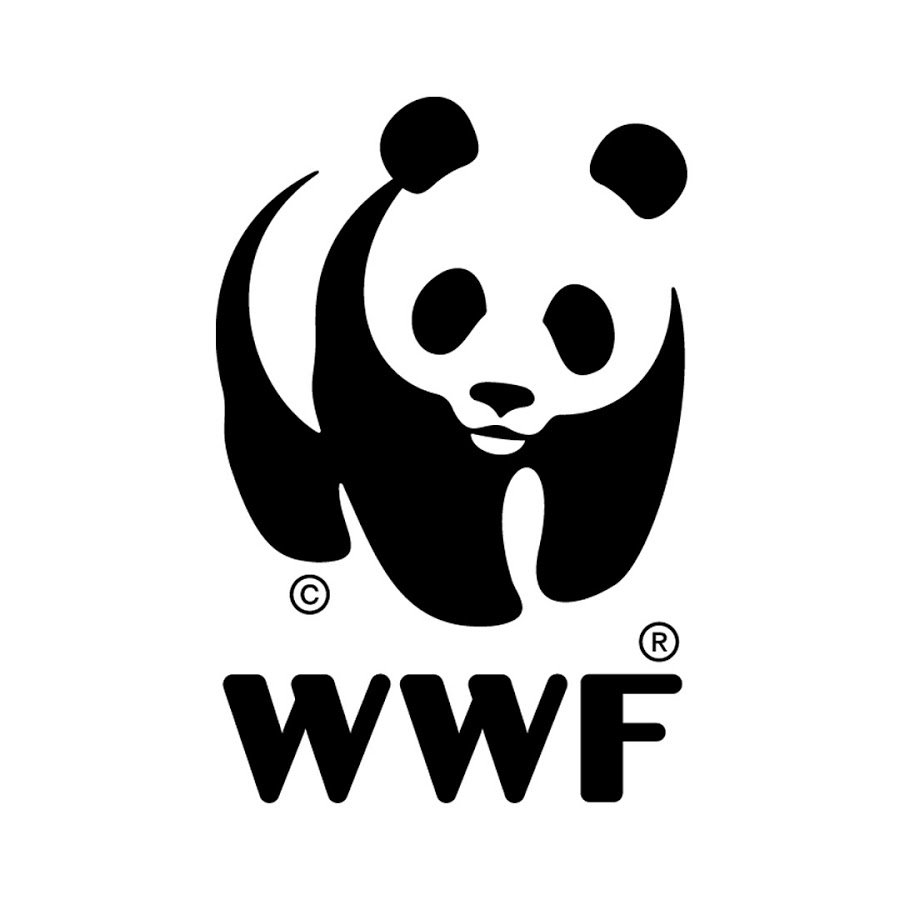 World Wildlife Foundation Logo with Panda Black and White